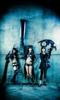 Deadly Trio - Black Rock Shooter OVA by suuzan