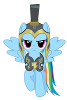 Rainbow Dash Hurricane Armor vector. by MasterRottweiler