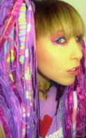 Crazy Candy Raver Dreads 5 by robotic-cupcake