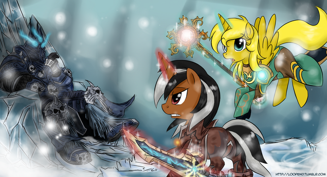 Commission - Attack On Lich King by PijinPyon