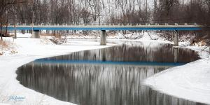 Blue bridge over zumbro by DGAnder