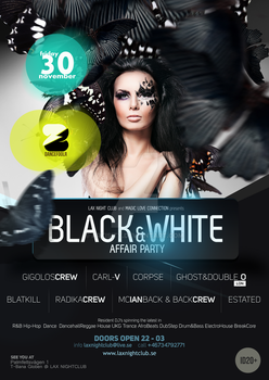 Black n White Affair Party by artisity