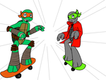 Mikey and Trist skating by MetaLatias5