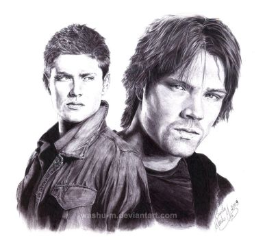 DEAN and SAM - Suspicious - by Washu-M