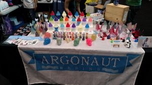 Argonaut Resins table at the 2015 NYcomic Con by Arthammer
