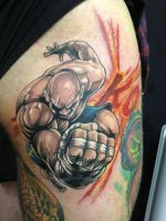 sagat.. K.O.....!!!! by madcreature