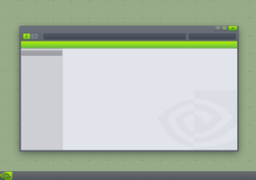 Nvidia Theme Mockup by BluPaper