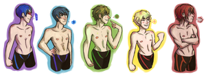 Free! - Rainbow Squad by abbic314