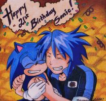 .: Happy 21st Sonic :. by Dreamgirl2007