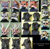 Big Batch of LARP Masks by Magpieb0nes