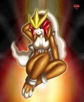 Pokemorph: Entei Girl X3 by xenon001