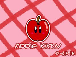Apple Kirby by clariecandy