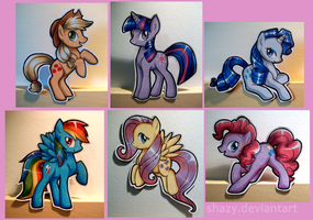 My Little Paper-Ponies by shazy