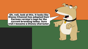 Vinny's reaction to Disney Channel's new logo by LDEJRuff