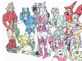 Female Transformers by Guardinthena