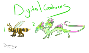 Digital Creatures Spring Batch 1 OPEN by DragonGirl1213