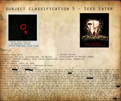 CP Subject Classification 5 - Seed Eater by MKUltra159