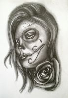 Day of the Dead Female by ASanchezDesigns