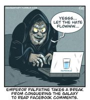 Palpatine checks Facebook by geogant