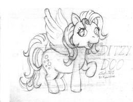 Ditzy Hooves G3 Sketch by gato303co