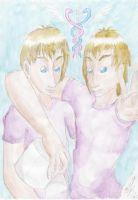 Travis and Connor Stoll by MoonlightFirefox