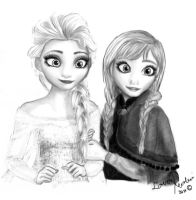 Elsa and Anna by LoverRevolveri