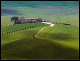 Tuscany green in Pienza by kanes