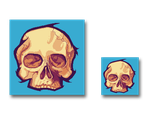 Pixel art Skull by JARV69