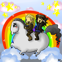 Riding The Gay Pony by AlyTheKitten