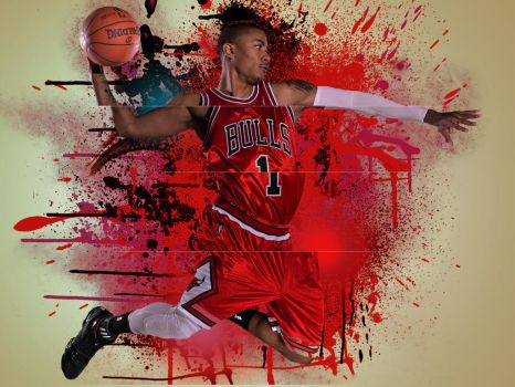 Derrick Rose by boringcolor