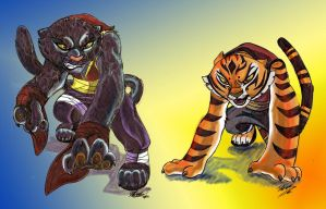 phantera onca and Tigress by kei111