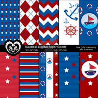 Nautical Paper Goods Kids Party Theme by anwaarsaleh