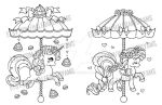 Valentine's Carousel - Roses and Macarons by YamPuff