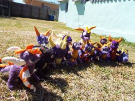 ( StD ) Full Spyro the Dragon Plushie Collection by KrazyKari