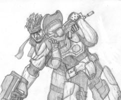 C1 - Snake Vs. Master Chief by Mathy