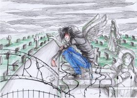 the ANGEL on the cemetery by 15DEATH