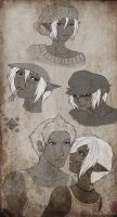 Drow Sketches No. 01 by Project-Drow