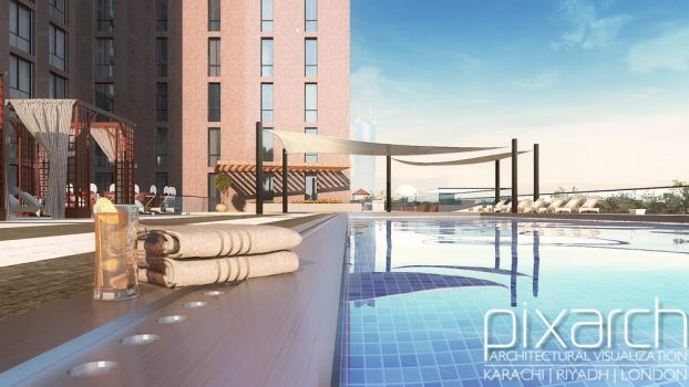 Pool 3D Design by pixarch