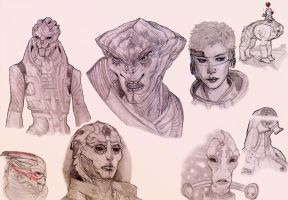 Mass Effect Heads by Hariamu