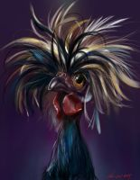 Hair day Chicken PS by nosoart