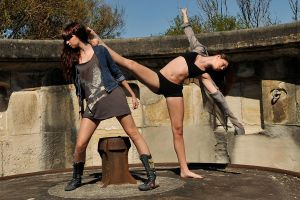 Taryn and Shae - kick 1 by wildplaces