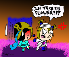 TAKE THE FLOWER by capcappucca222