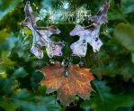Copper Autumn Oak leaf necklace by EMasqueradeGallery