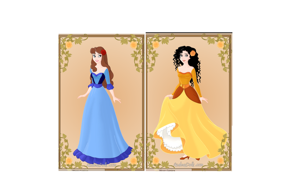 Mirabel's and Izanne's dresses by heart8822