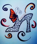 Shoe and Butterfly by Fresh002
