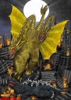 GODZILLA VS KING GHIDORAH by SaintNick14