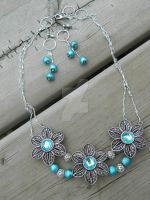 Modest Spring 'Necklace and Earring Set' by DOC-Ash1391