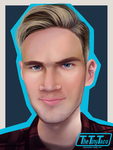 Pewdiepie Re-Draw by TheTinyTaco