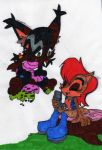 Sally and Nicole pic - Colored by dragonheart07