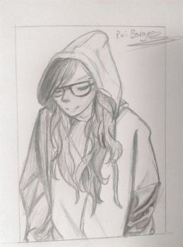 Girl in a hoodie by AnimeReality2002
